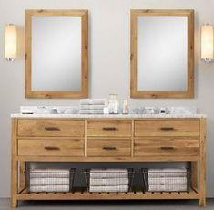 Basin Vanity Units 72 Double Wooden Bathroom In Light Walnut Color Side Lights. Vanity stool on casters ella powder room vanity sink cabinets. Wooden Bathroom Vanity, Wooden Bathroom Cabinets, Double Sink Bathroom, Double Sink Vanity, Bathroom Sets, Bathroom Furniture, Bathroom Vanities, Master Bathroom, Basin Vanity Unit