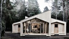 Talk about 'cutting' edge ... A pair of Danish architects unveil Villa Asserbo, a digitally fabricated home built using a computerized milling machine, a whole lot sustainable plywood and very little else.