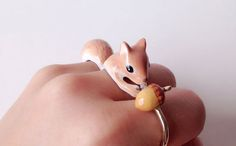 Artist MerryMe designed 3-piece rings that need to be worn at once to become playful animals. #jewelry