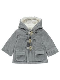 Keep little ones ultra-cosy this season with this gorgeous fleece-lined jacket. In a grey duffle style with toggle, hook and loop tape fastening, it's perfec. Warm Coat, Winter Coat, Cute Fashion, Kids Fashion, Duffle Coat, Kids Coats, Asda, Latest Fashion For Women, Cool Kids