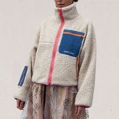 New York-based designer Sandy Liang over the past few seasons has established herself as a designer adept at just the right amount of edge to Sherpa fleece. Sandy Liang, Outdoor Outfit, Mode Inspiration, Colorful Fashion, Classy Outfits, Pull, Dress To Impress, Lounge Wear, Winter Fashion