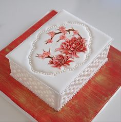 Royal Icing Cakes, Cake Icing, Gorgeous Cakes, Pretty Cakes, Cake Piping Techniques, My Dream Cake, Royal Icing Templates, Cake Story, Single Layer Cakes