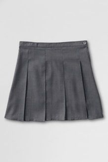 School Uniforms Red Gray Skirts & Skorts from Lands' End - above the knee