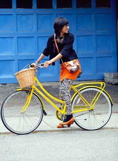Zara's #Bikestyle #bicycle #cyclechic