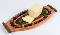 Wood olive tray wood serving tray cheese server by FineWineCaddy