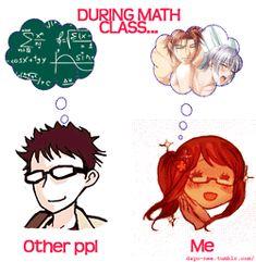 problems during math class, pfft.