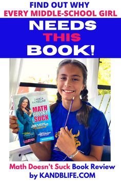 Take it from this 12-year-old middle schooler, every girl needs this book. Whether you like math or not, it's super helpful and funny. Read the book review and find out for yourself! Middle School Books, Danica Mckellar, Book Reviews For Kids, Love Math, Middle Schoolers, The Middle, Love Book, Childrens Books, Good Things
