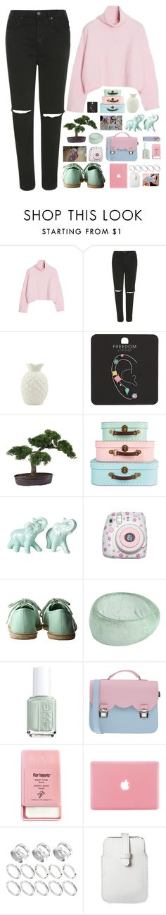 """""""Xenia ( ellie's birthday celebration challenge, set 8 )"""" by end-of-the-day ❤ liked on Polyvore featuring Topshop, Nearly Natural, Polaroid, Farhi by Nicole Farhi, Essie, La Cartella, Pier 1 Imports, ASOS, Mossimo and women's clothing"""