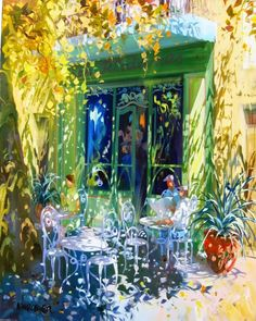 The artworks of Laurent Parcelier (Laurent Parcelier) Hall Painting, Painting & Drawing, Art Sketches, Art Drawings, Kunst Online, Different Kinds Of Art, Dappled Light, Cottage Art, French Artists