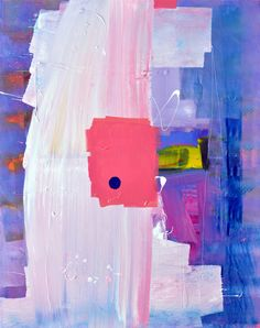 Anthony Hunter, 'Big Pinky White Brush Strokes Slashed through the Middle of the Painting Painting,' , Joanne Artman Gallery