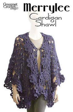 Maggie's Crochet · Merrylee Cardigan Shawl Pattern