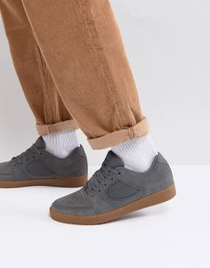 37f6face0c24 eS Skateboarding Accel Slim Sneakers In Gray