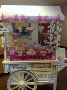 Beautiful Vintage Candy Cart! Love this, its very dainty!