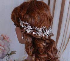Stunning Bridal Vine Wreath Headpiece Headband Wedding Bride