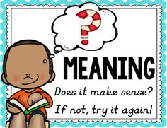 READING FOR MEANING https://www.teacherspayteachers.com/Product/Reading-Cues-2479405