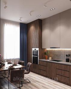 Modern Kitchen Interiors, Luxury Kitchen Design, Kitchen Room Design, Modern Kitchen Cabinets, Kitchen Cabinet Design, Luxury Kitchens, Living Room Kitchen, Home Decor Kitchen, Interior Design Kitchen