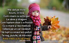 Asta Vreau Si Tu Sa Visezi  - Ma vad pe mine,Acum, in tineCum visam cu ochii goiLa zane si dragoniCum luptam doar c-o frunzaCu o mare si rea meduzaCalare pe un cal nevazutSa lupt cu zmeul am pututTe rog, puiule, sa ma creziAsta vreau si tu sa visezi! 2015 #ochi #zane #dragoni #frunza #meduza #cal #zmeu #pui Crochet Hats, Dragon, Knitting Hats, Dragons