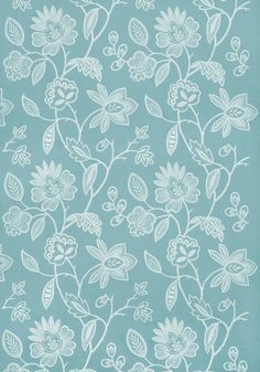 Brunello Embroidery #fabric in #aqua. #AnnaFrench #Thibaut