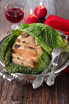 L'idée festive et originale : le chou farci au #FoieGras de canard, à la truffe  #foiegras #recette
