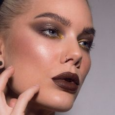 What is your go to Lip color? Mine is red, but a dark brown works too! Makeup Geek, Makeup Inspo, Eye Makeup, Makeup Ideas, Linda Hallberg, Brown Lip, Dark Brown, Brown Eyes, Cut Crease Makeup