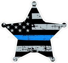 Thin Blue Line Sheriff Star