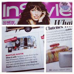 "InStyle August 2012 ""Haute Wheels"" feature, page 50 // #InStyle #press #bootlegaustin #airstream #magazine #article #feature"