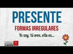 Presente irregular en español - Spanish Irregular Verbs in Present Tense Spanish Class, Teaching Spanish, Youtube, Irregular Verbs, Student, Songs, Second Language, Learning Spanish, Spanish Classroom