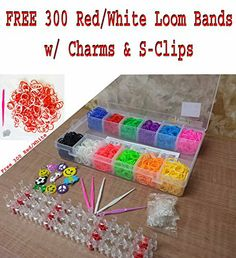 Large Box Colourful 2400 Loom Bands Bracelet Making Kit Set w/ 100 S-Clips - 1 Loom Board - 10 Loom Charms & 5 Hooks Best on Amazon FunkyBuys® http://www.amazon.co.uk/dp/B00KYRNA4M/ref=cm_sw_r_pi_dp_1tzQtb09XCCJQPZZ