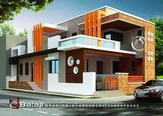House Front Wall Design, Pooja Room Door Design, Bungalow House Design, 3d House Plans, Duplex House Plans, Building Elevation, House Elevation, Classic House Design, Modern House Design