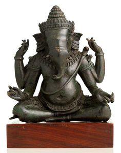 Khmer Ganesha, bronze from Cambodia.
