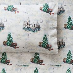 HARRY POTTER™ HOGWARTS™ Christmas Percale Sheet Set