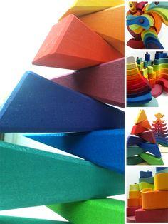 Stacking toys from Grimm's Spiel und Holz Design <3