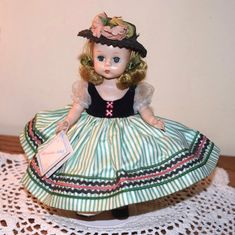 "VINTAGE MADAME ALEXANDER 1954 8"" Alexander-kin or Wendy-kin LITTLE VICTORIA w/WT 