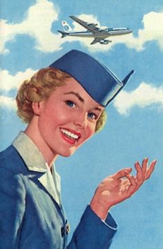 A great look at what Pan Am stewardesses were sporting back in vintage airline travel. Retro Airline, Airline Travel, Air Travel, Vintage Airline, Vintage Travel Posters, Vintage Ads, Vintage Photos, Vintage Vibes, Flight Attendant Life