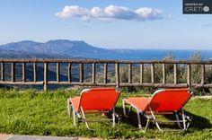 Holiday villa rental in Chania. Two bedroom sea view villa with pool in Malathiros. Luxury Holidays, Two Bedroom, Crete, Villas, Sea, Mansions, Ocean, Villa