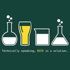 Beer is a Solution MENS T-Shirt by Craft Brewed Clothing