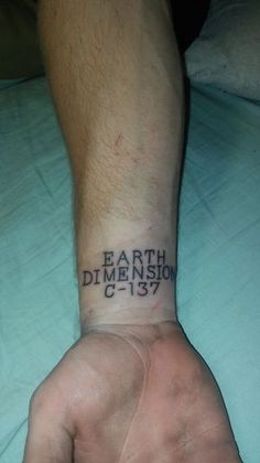 If Found, Please Return to is listed (or ranked) 8 on the list 28 Amazing Tattoos Inspired by Rick and Morty