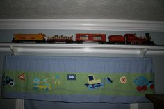 I would love to build a track around L's room to keep his Lionel train on. That would be AMAZING.