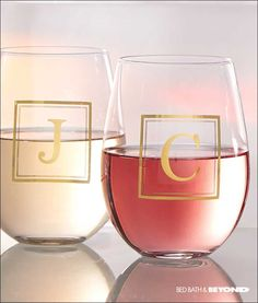 Cheers to finding the perfect glass! Spoil yourself with a personalized, monogrammed glass or give them to everyone as gifts this year. They're not just for bar beverages; they're perfect for anything, anytime. It's a great way to cross everyone off your list with a thoughtful gift!