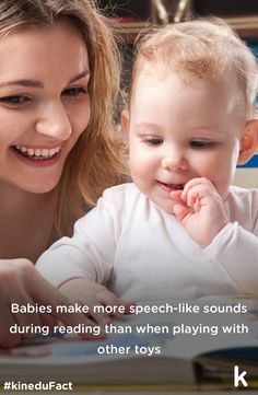 Babies make more speech-like-sounds during reading than when playing with other toys! Learn how to choose the best books for your little one!