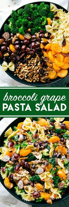 Brought this salad to a potluck and people were BEGGING for the recipe!!  (Reader Comment) The best ever BROCCOLI PASTA SALAD. Quick to make, 5-ingredient dressing, and sure to be a hit! Via chelseasmessyapron.com