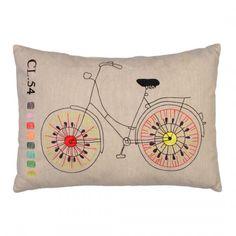 Kissen aus Baumwolle Fahrrad