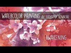 Watercolor painting - Awakening - YouTube