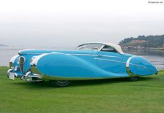 Delahaye 175S Saoutchik Roadster- Cruisin just got funky, seriously look at that thing!