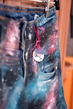 awesome photography, these galaxy shorts are so creative  I love DIY :D