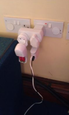 these tourists didn't seem to know about overloading sockets!