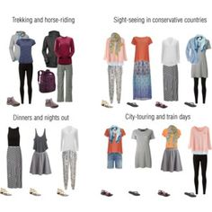 Transsiberian and Central Asia Travel Capsule Wardrobe- Outfit Ideas