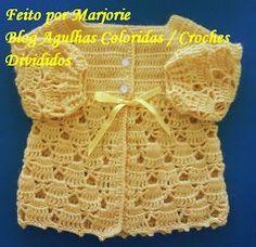 Agulhas Coloridas Croche e Trico: PAP Casaquinho de Croche de BEBE - Feito por Lindinha