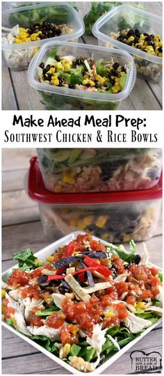 Southwest Chicken and Rice Bowls made EASY! Love this fast dinner recipe from Butter With a Side of Bread AD #InspiredGathering