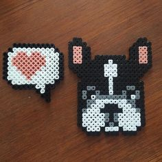 French bulldog hama beads by lerika116                                                                                                                                                                                 More